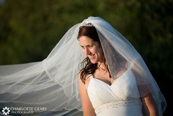 Tiered long veil with tiara