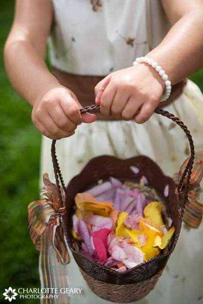 Flower girl with brown basket