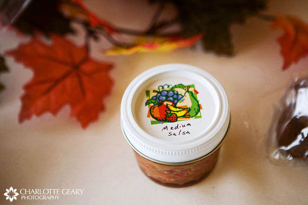 Salsa as a wedding favor