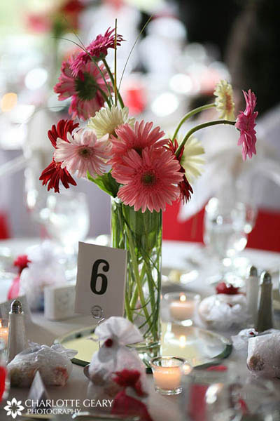 Gerbera daisy wedding centerpiece