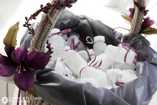 Purple basket of bubbles