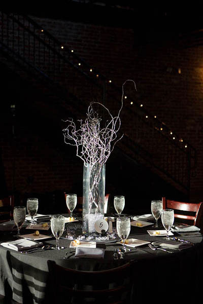 Curly willow centerpiece