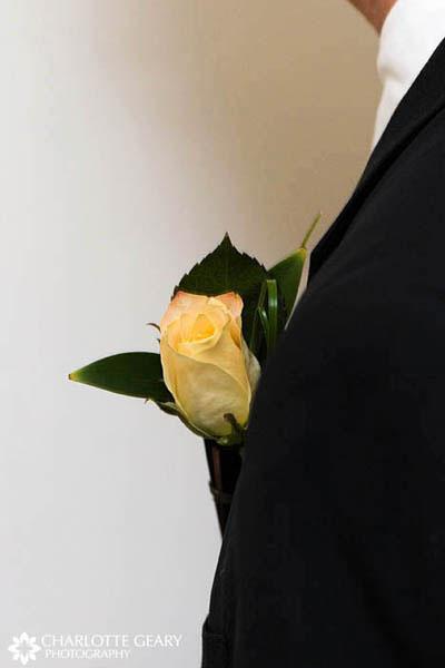 Yellow rose boutonniere