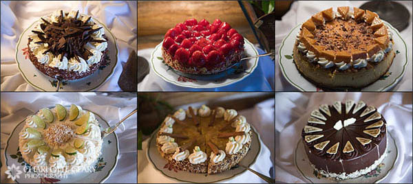 Square chocolate wedding cake Pie buffet as a cake alternative