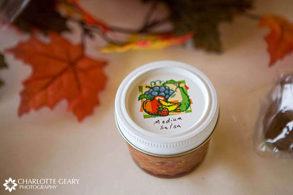 Salsa wedding favor