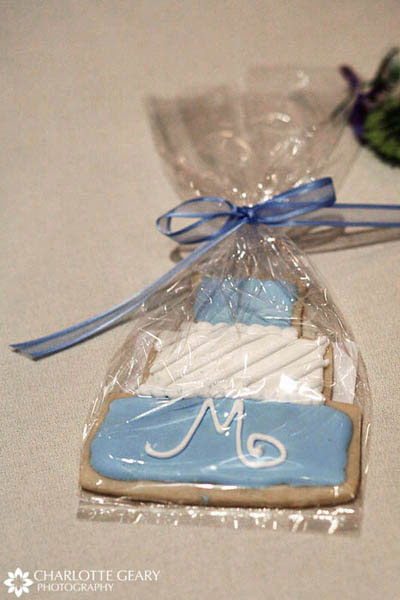 Sugar cookie wedding favors