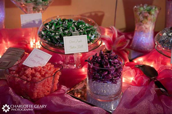 Pink candy buffet