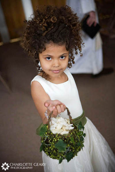 Flower girl with green basket