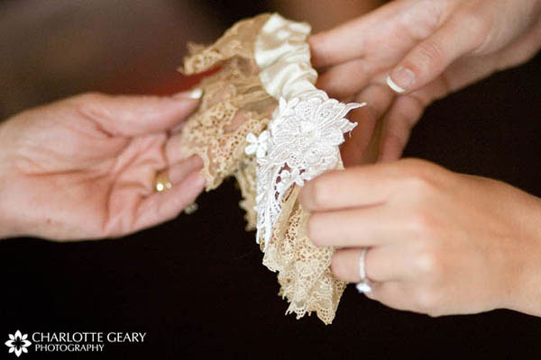 Garter made of the bride
