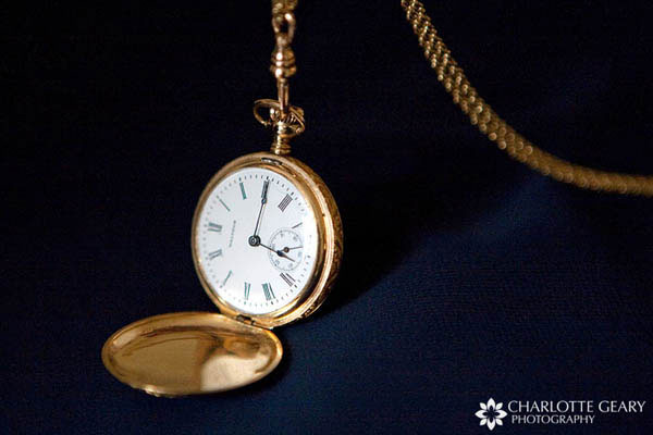 Family pocket watch carried by bride