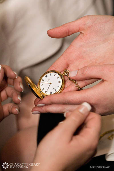 Family pocket watch given to the bride