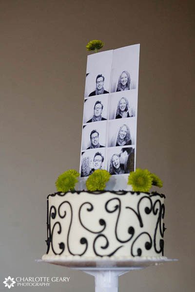 Photo booth cake topper