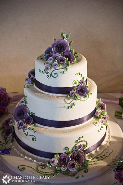 Dark Purple And Silver Wedding Cakes