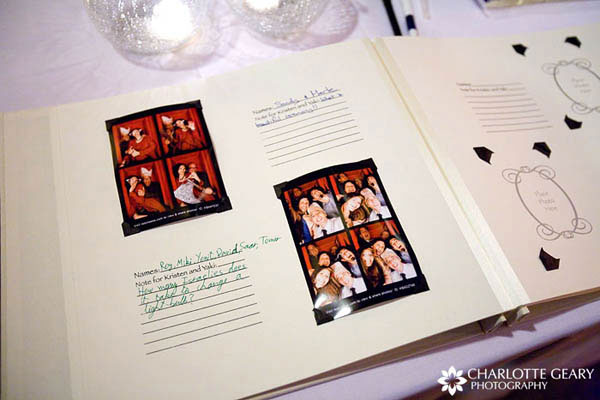 Photo booth guest book