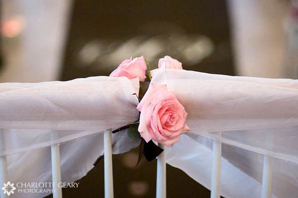 Pink rose ceremony decoration