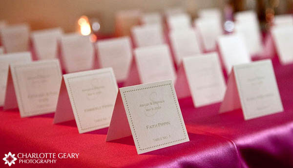 Folded place cards