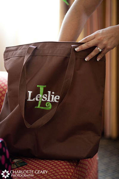 Personalized tote bag for the bride