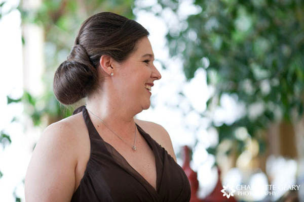 Bridesmaid with chignon
