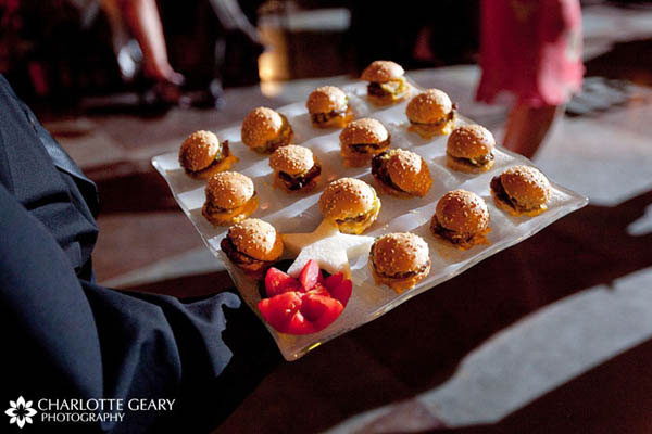 Latte bar Sliders served to dancing guests