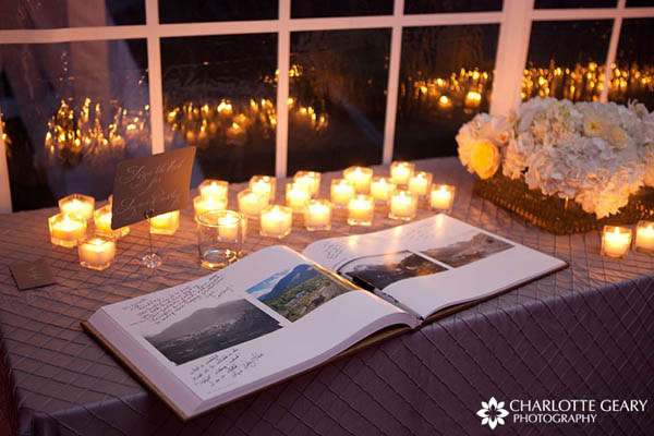 Art book as a wedding guest book