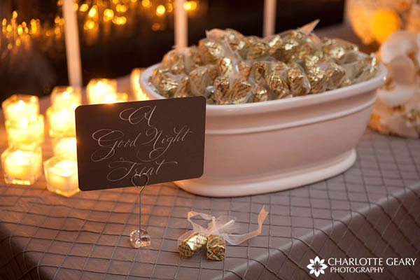Candies as wedding favors