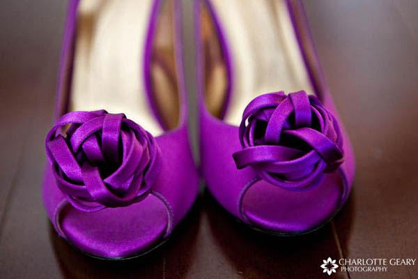 Purple Kate Spade shoes