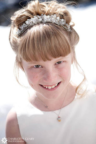 Flower girl in tiara