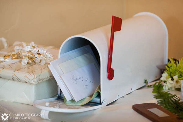 Mailbox used as a wedding card box