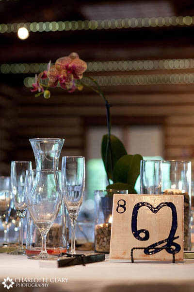 Tile displayed as a table number sign