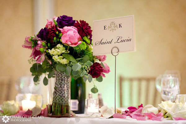 Elegant table name sign