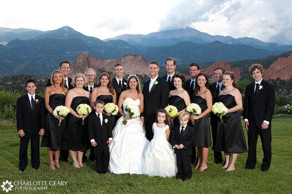 Wedding party in black