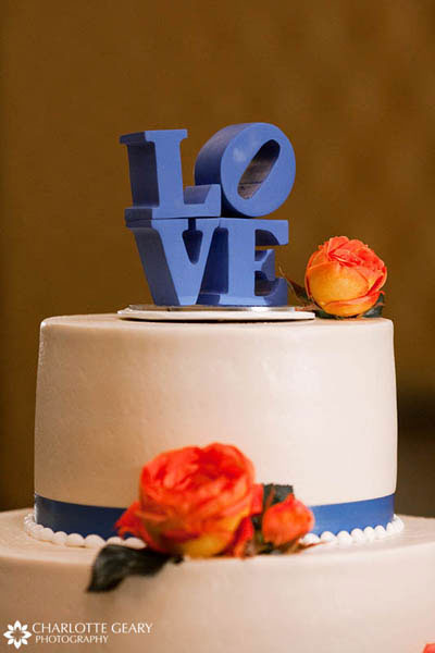 Love sculpture cake topper