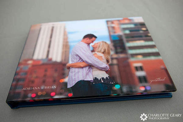 Engagement portrait guest book