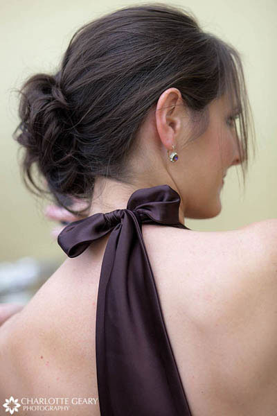Bridesmaid with loose chignon