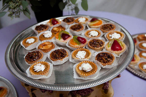 Miniature pies for a fall wedding