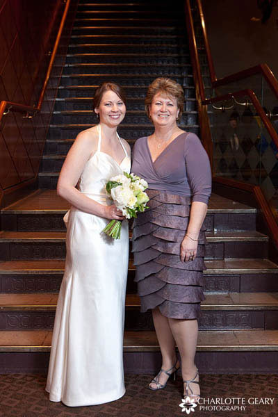Mother of the bride in purple dress