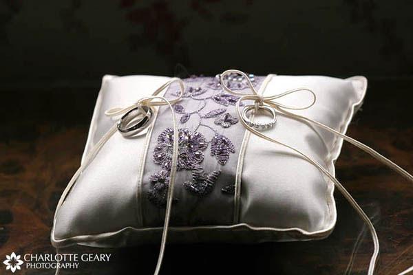Purple ring pillow