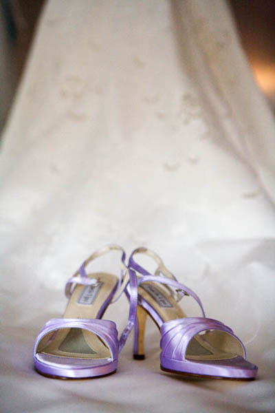 Light purple wedding shoes