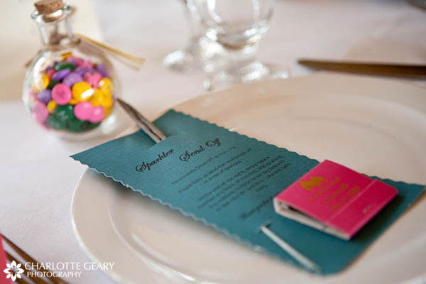 Packets for wedding sparklers and matches