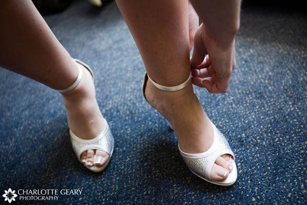 Silver and white bride 39s shoes