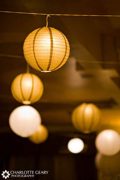 Yellow hanging lanterns