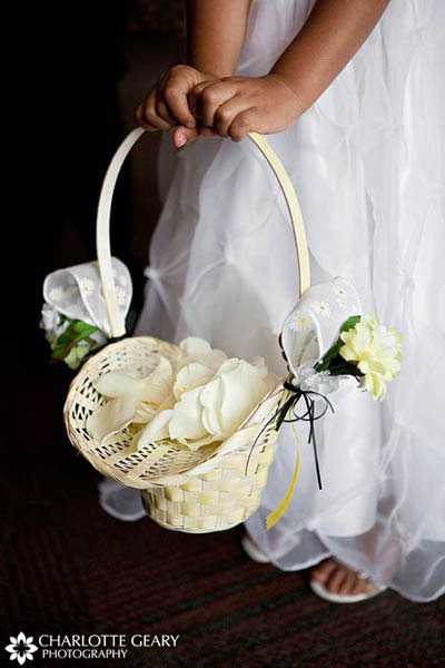 Flower girl with yellow basket